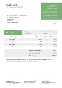 Rechnung Für Dienstleistung Schreiben Kostenlose Vorlage