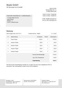 Rechnungsvorlagen Kostenlos Rechnungsvorlage Fur Jeden Zweck 8