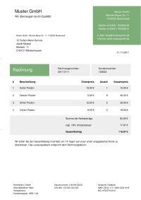 Rechnungsvorlagen Für Excel Download Kostenlos